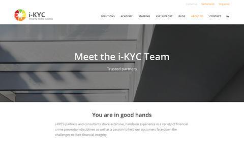 Screenshot of Team Page i-kyc.com - Team - international KYC - captured Dec. 20, 2018