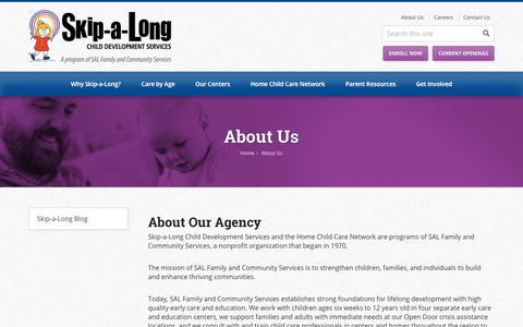 Screenshot of About Page skip-a-long.org - About Us | Skip-a-Long Child Development Services - captured Oct. 20, 2018