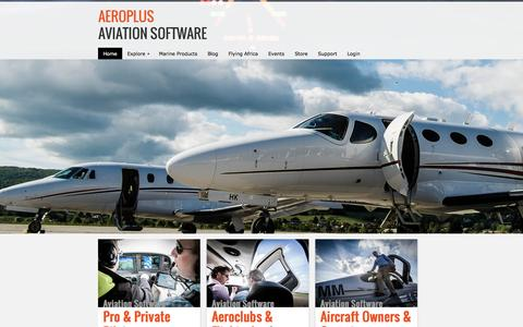 Screenshot of Home Page aeroplus.info - Aviation Software | iPhone and iPad Apps - captured Oct. 4, 2014