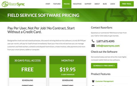 Field Service Software - No Contract, Low Cost, Simple Pricing