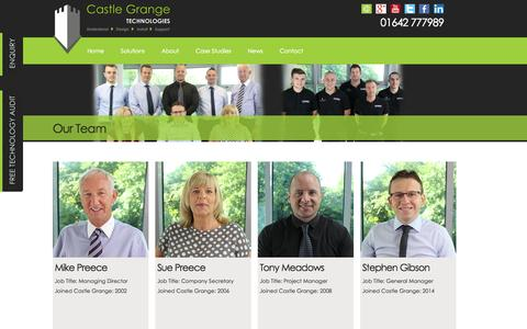 Screenshot of Team Page castlegrange.com - Team | Castle Grange Technologies Ltd - captured Nov. 1, 2014