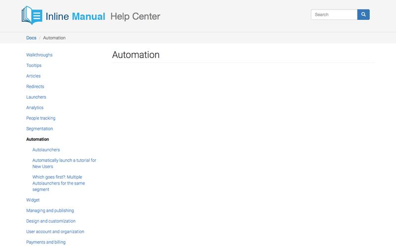 Automation | Inline Manual Help Center