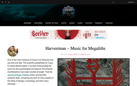 Screenshot of Home Page heavyblogisheavy.com - Heavy Blog Is Heavy – Underground music reviews, analysis, interviews, and more… - captured May 16, 2017