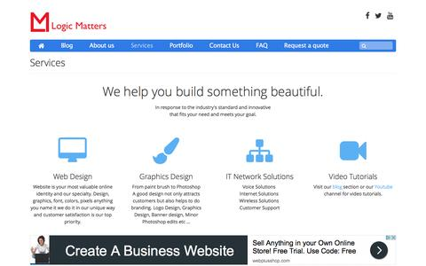 Screenshot of Services Page logicmatters.org - Logic Matters : Services - where we treat you with respect - captured May 22, 2017