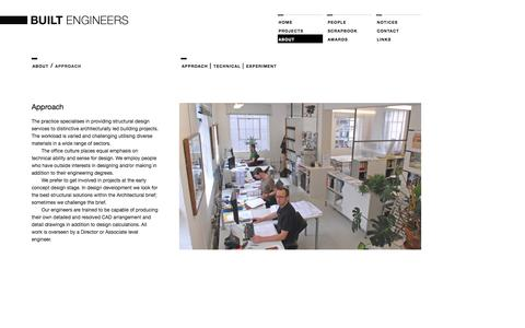 Screenshot of About Page builtengineers.co.uk - BUILT Engineers. Structural and Technical Design. - captured Sept. 30, 2014