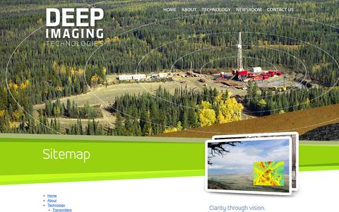 Screenshot of Site Map Page deepimaging.com - Deep Imaging Technologies, Inc. | Sitemap - captured Feb. 21, 2016
