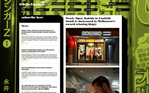 Screenshot of Press Page studioequator.com.au - Newly Open_Kokido in Caufield South is showcased in Melbourne's award winning blog:) - Studio Equator - restaurant Design Melbourne, Cafe design Melbourne, Interior Design Melbourne, Hospitality Design Melbourne, Environmental Graphics Melbourne, Sup - captured Oct. 9, 2014