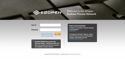 User Login - E2open