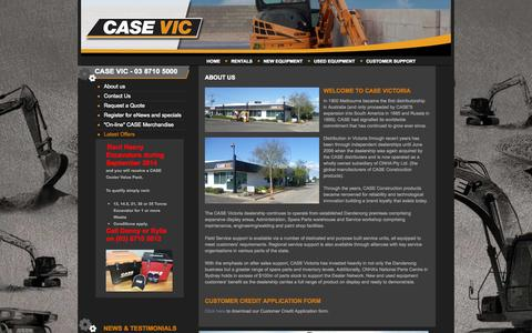 Screenshot of About Page casevic.com.au - About us   CASE Victoria - captured Oct. 1, 2014