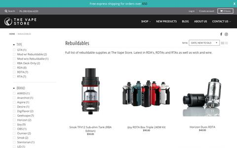 Rebuildables – The Vape Store