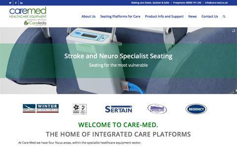 Screenshot of Home Page care-med.co.uk - Care-Med – Making care Easier, Quicker & Safer - captured July 15, 2018