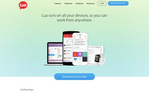 Download secure encrypted mobile messaging for healthcare | Lua