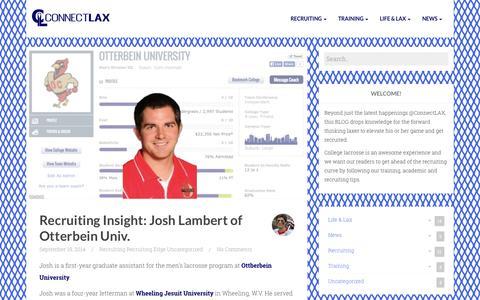 Screenshot of Blog connectlax.com captured Sept. 30, 2014