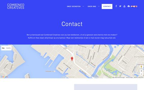 Screenshot of Contact Page combinedcreatives.com - Contact Đ Combined Creatives - captured Dec. 10, 2015