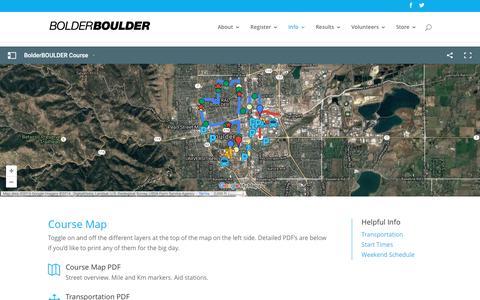 Screenshot of Maps & Directions Page bolderboulder.com - Maps - bolderboulder - captured Nov. 23, 2016