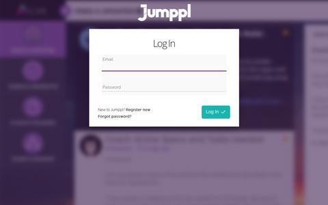 Screenshot of Login Page jumppl.com - Jumppl, Best Online Business Collaboration Tools   Team Management Software - captured July 9, 2018