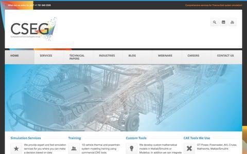 Screenshot of Home Page cseg.us - CSEG - captured Jan. 30, 2016