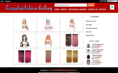 Screenshot of Home Page easydigitalmarketing.com.au - Women's high-heeled shoes, boots, dress online sales | easydigitalmarketing.com.au - captured June 16, 2016