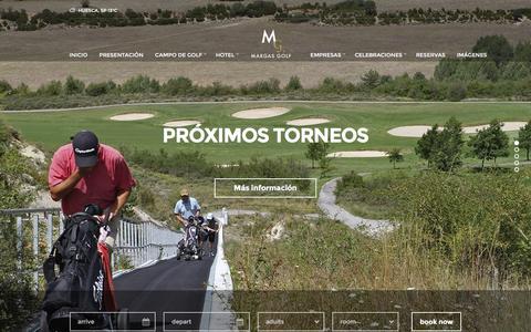 Screenshot of Home Page margasgolf.com - Margas Hotel & Golf | Diseño y el confort en Margas Golf - captured Jan. 9, 2016