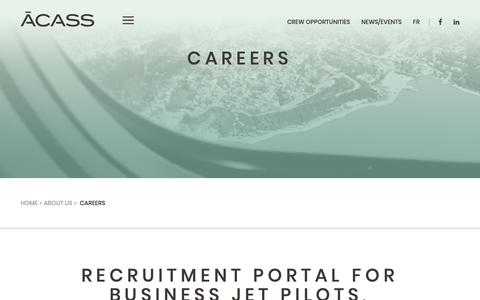 Screenshot of Jobs Page acass.com - Careers - ACASS - captured Nov. 6, 2018