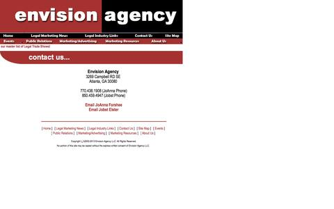 Screenshot of Contact Page envisionagency.com - Contact Us - Envivion Agency - captured July 14, 2016
