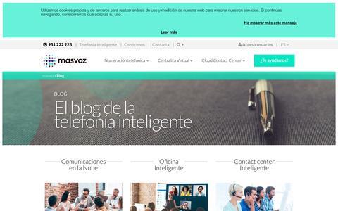 Screenshot of Blog masvoz.es - Blog de telecomunicaciones y telefonía inteligente para empresas - masvoz - captured May 11, 2017