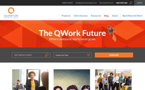 Screenshot of Blog quantumworkplace.com - The QWork Future | A Future of Work Blog from Quantum Workplace - captured Aug. 28, 2017