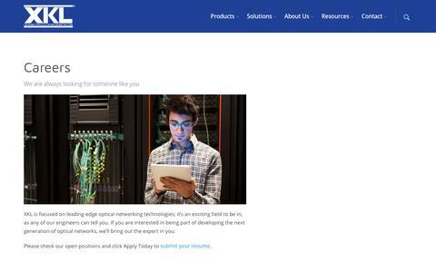 Screenshot of Jobs Page xkl.com - Careers – XKL - captured Nov. 12, 2018
