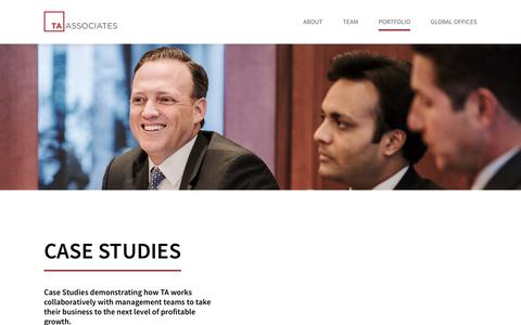 Screenshot of Case Studies Page ta.com captured Jan. 15, 2019