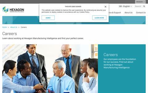 Screenshot of Jobs Page hexagonmi.com - Careers | Hexagon Manufacturing Intelligence - captured July 9, 2017