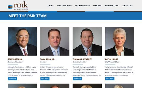 Screenshot of Team Page rmk.com - RMK Management Corp. | Apartments in Chicago, IL | - captured Nov. 16, 2018
