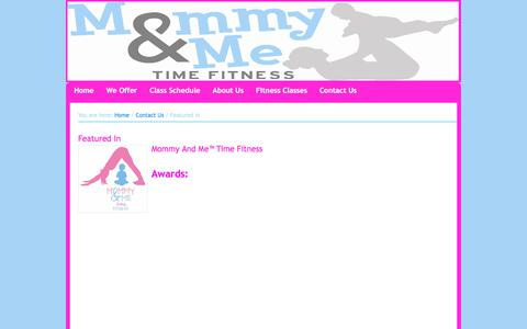 Screenshot of Press Page mommyandmetime.com - Mommy And Me Featured In - captured Oct. 20, 2017