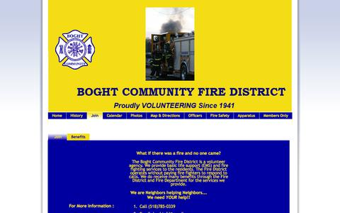 Screenshot of Signup Page boghtfire.org - Boght Community Fire Department - captured Oct. 5, 2014