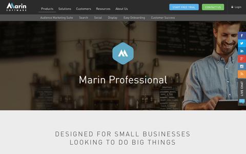 Screenshot of Products Page marinsoftware.com - Professional – Alternative   Marin Software - captured Nov. 18, 2015