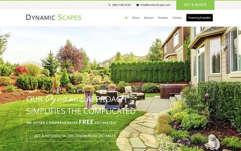 Screenshot of Home Page dynamicscapes.com - Home - Dynamic Scapes - captured Nov. 14, 2018