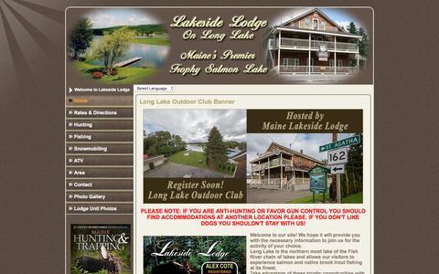 Screenshot of Home Page mainelakesidelodge.com - Maine Lakeside Lodge, Sinclair, Maine - captured March 11, 2016
