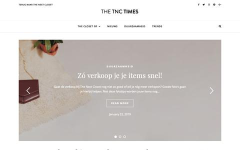 Screenshot of Blog thenextcloset.com - The Next Closet Times - - captured Feb. 17, 2019
