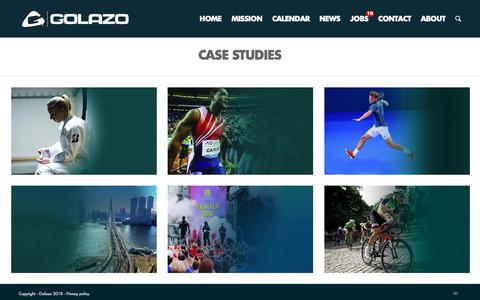 Screenshot of Case Studies Page golazo.com - Case studies - Golazo - captured Sept. 29, 2018