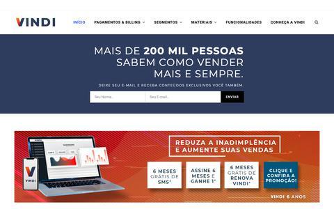 Screenshot of Blog vindi.com.br - Blog Vindi - Cobrança Recorrente, Pagamento On-line e Assinaturas. - captured May 21, 2019