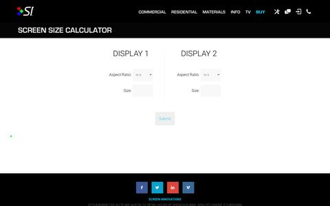 Screen Size Calculator | Projector Screens | Screen Innovations