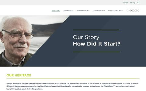 Screenshot of About Page mazzainnovation.com - How Did It Start | Mazza Innovation - captured Jan. 9, 2016