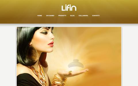 Screenshot of Home Page lifin.it - Accessori per capelli – Lifin Srl - captured Jan. 29, 2016
