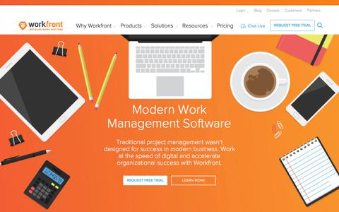 Online Project Management Software | Workfront - Because Work Matters