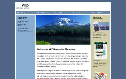 Screenshot of Home Page visitorsguide.com - Visitor Guide Publications - captured Sept. 24, 2014