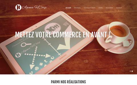 Screenshot of Home Page agence-hcorp.eu - Accueil - Agence HCorp - Agence web et de publicité - Saverne - captured Sept. 30, 2014