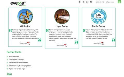 Screenshot of Case Studies Page evexia.ca - Evexia |Corporate Health & Wellness solutions| Wellness Portal - captured Sept. 30, 2018