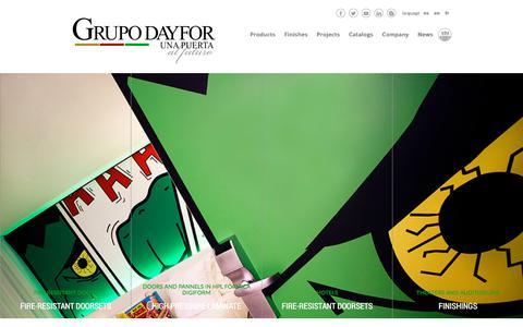 Screenshot of Home Page dayfor.com - Puertas cortafuegos, Puertas tecnicas, dayfor - captured July 11, 2017