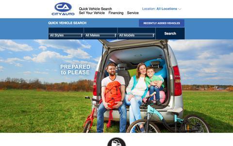 Screenshot of Home Page cityauto.com - City Auto | Used Cars Memphis & Murfreesboro Tennessee - captured July 18, 2018
