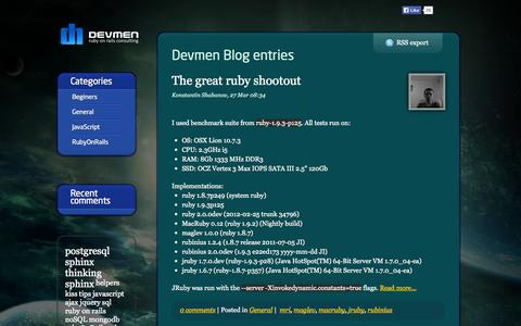 Screenshot of Blog devmen.com - Blog - DEVMEN - captured Sept. 30, 2014