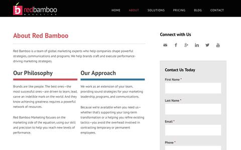 Screenshot of About Page bamboointeractive.com - About Red Bamboo Marketing | NJ Marketing Agency - captured Sept. 30, 2014
